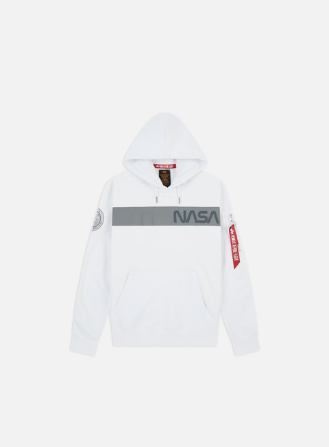 Outlet e Saldi Felpe con Cappuccio Alpha Industries Nasa RS Hoodie