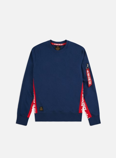 Outlet e Saldi Felpe Girocollo Alpha Industries RBF Inlay Crewneck