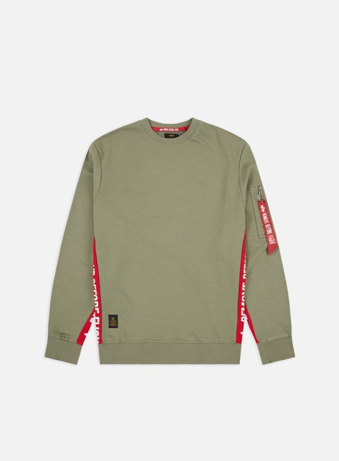 Crewneck Sweatshirts Alpha Industries RBF Inlay Crewneck