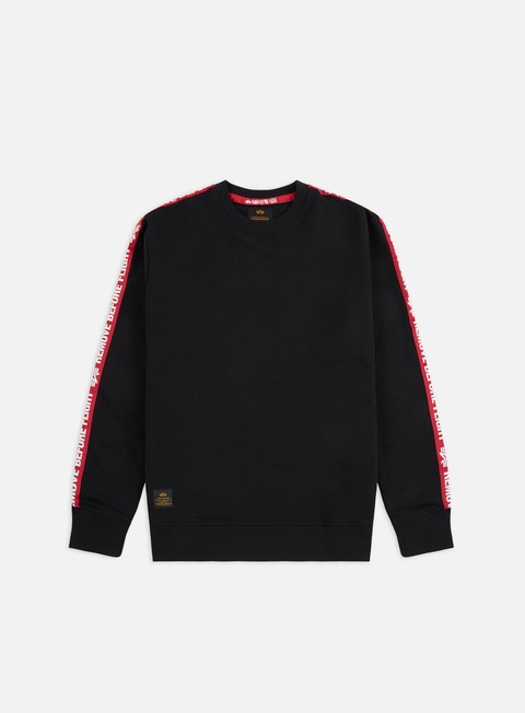 Outlet e Saldi Felpe Girocollo Alpha Industries RBF Tape Crewneck
