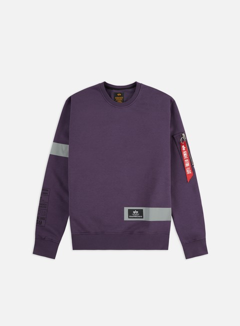 Crewneck Sweatshirts Alpha Industries Reflective Stripes Crewneck
