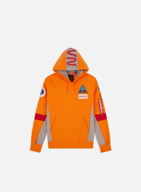 Outlet e Saldi Felpe con Cappuccio Alpha Industries Space Camp Hoodie