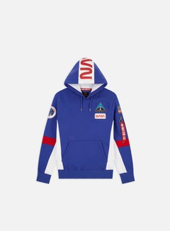 Alpha Industries - Space Camp Hoodie, Nautical Blue