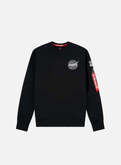 felpe alpha industries space shuttle crewneck black