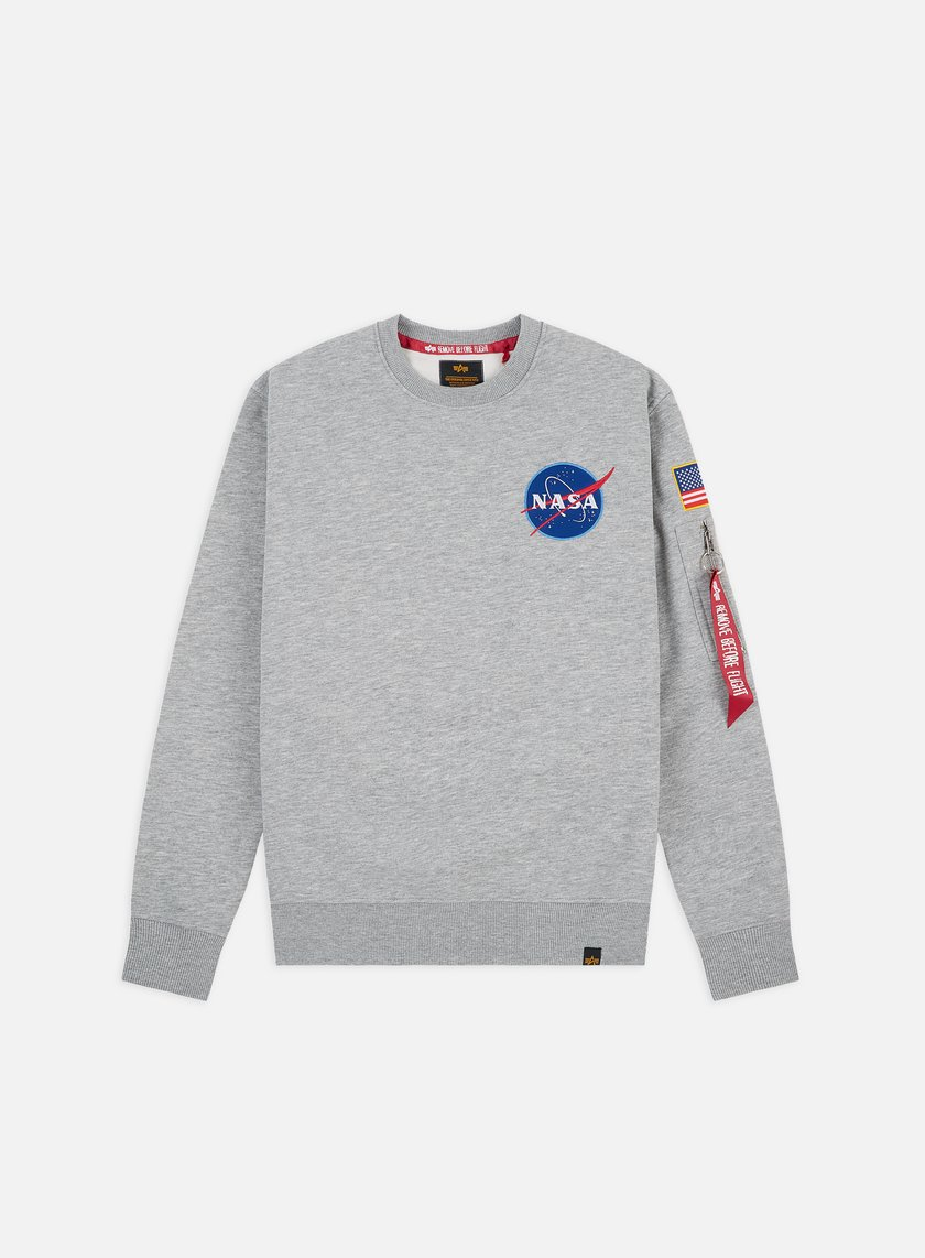 Alpha Industries - Space Shuttle Crewneck, Grey Heather
