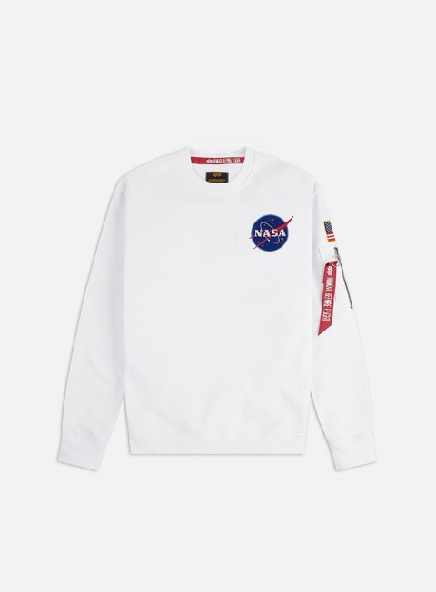 Outlet e Saldi Felpe Girocollo Alpha Industries Space Shuttle Crewneck