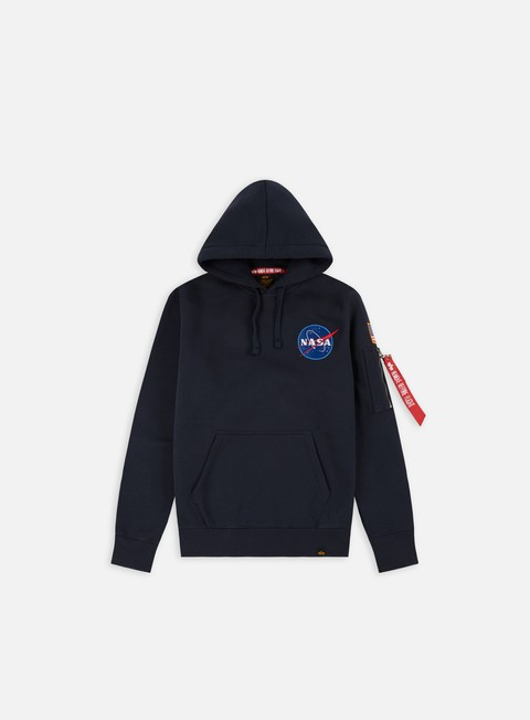 felpe alpha industries space shuttle hoodie replica blue