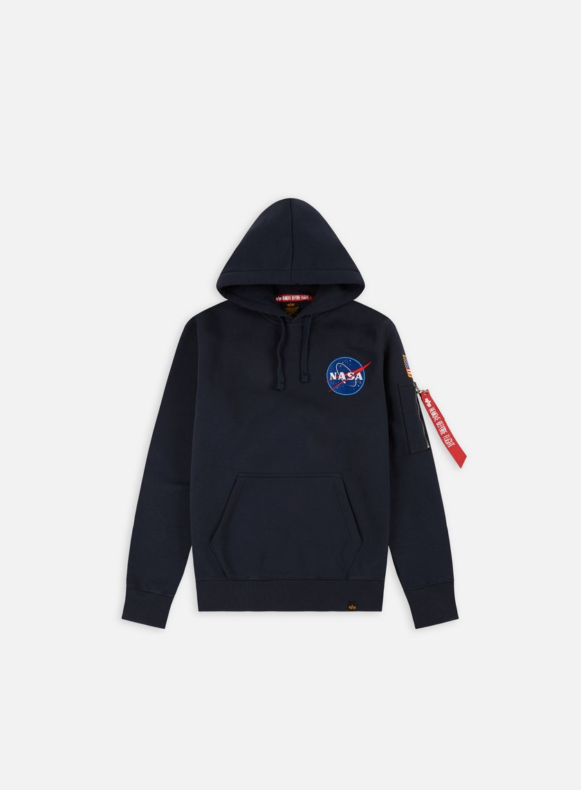 Alpha Industries - Space Shuttle Hoodie, Replica Blue
