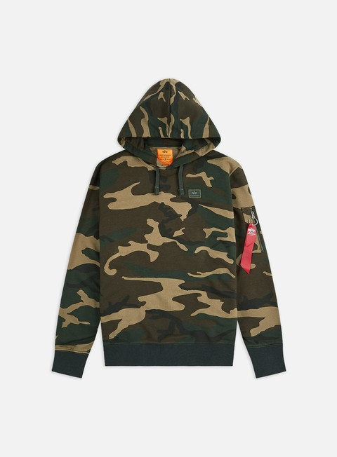 Outlet e Saldi Felpe con Cappuccio Alpha Industries X-Fit Camo Hoodie