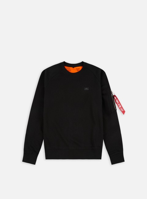 felpe alpha industries x fit crewneck black