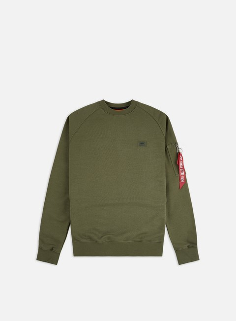 Felpe Girocollo Alpha Industries X-Fit Crewneck