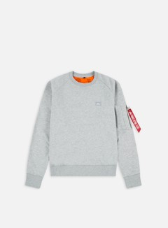 Alpha Industries - X-Fit Crewneck, Grey Heather