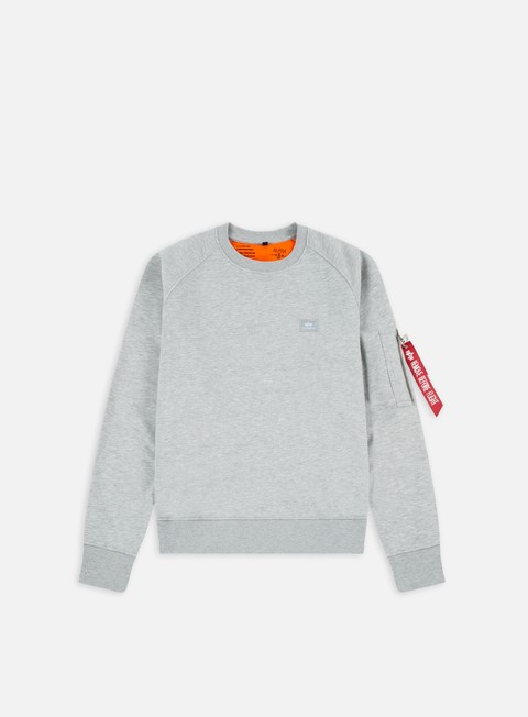 felpe alpha industries x fit crewneck grey heather