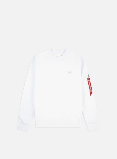 felpe alpha industries x fit crewneck white