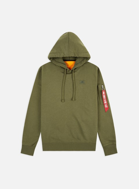 Outlet e Saldi Felpe con Cappuccio Alpha Industries X-Fit Hoodie