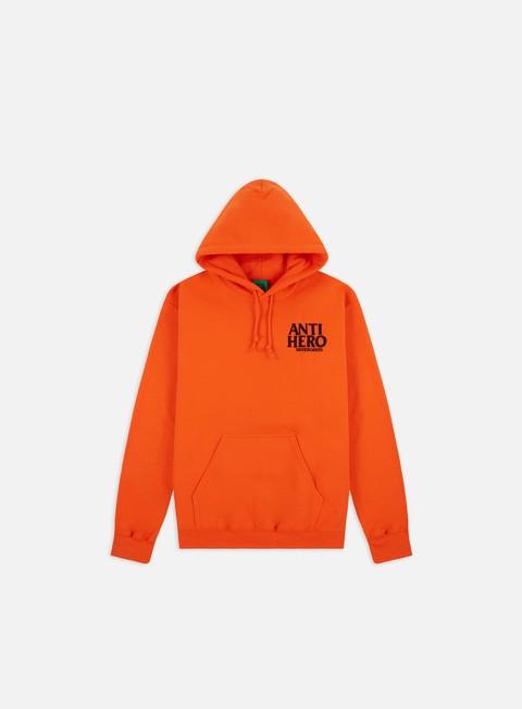 Hooded Sweatshirts Antihero Lil Black Hero EMB Hoodie