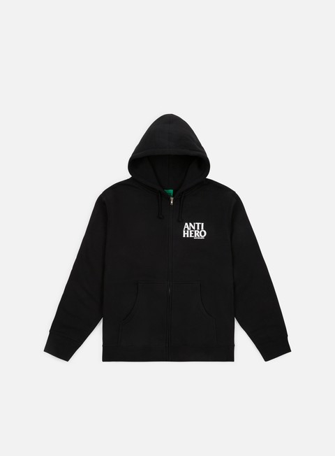 felpe antihero lil black hero zip hoody black