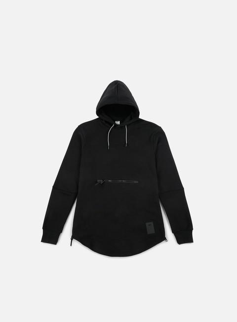 felpe asics premium fleece hoodie black