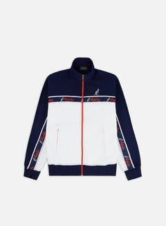 Australian - Chest Banda Fleece Track Top, Bianco