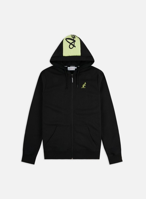 Hooded Sweatshirts Australian Logo Fleece Zip Hoodie