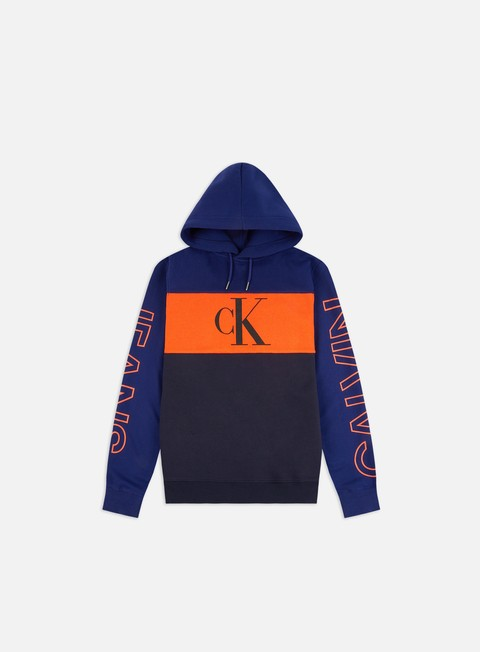 Sale Outlet Logo Sweatshirts Calvin Klein Jeans Blocking Statement Hoodie