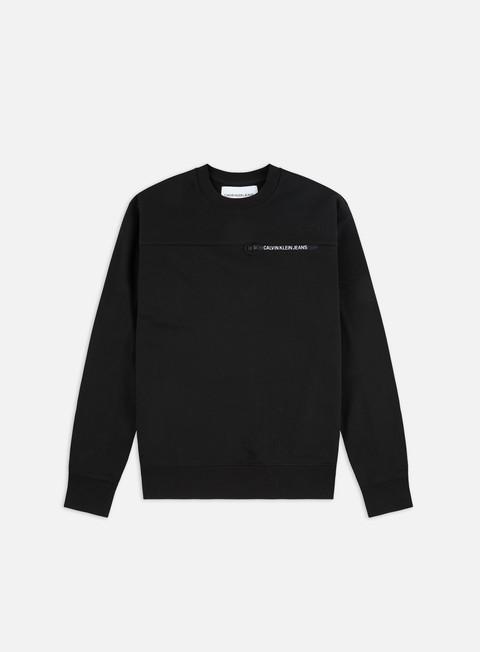 Sale Outlet Logo Sweatshirts Calvin Klein Jeans Calvin Logo Regular Crewneck