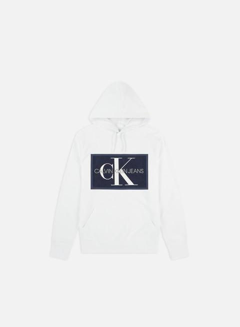 Outlet e Saldi Felpe con Cappuccio Calvin Klein Jeans Chambray Monogram Hoodie