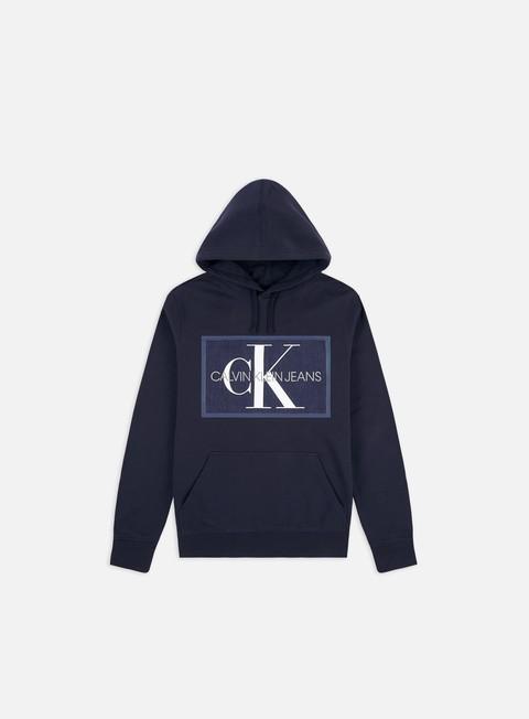 Felpe con Cappuccio Calvin Klein Jeans Chambray Monogram Hoodie