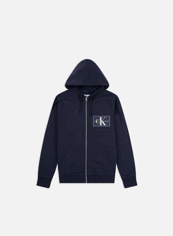 Calvin Klein Jeans Chest Chambray Monogram Zip Hoodie