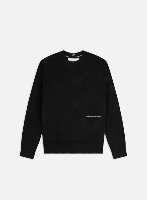 Outlet e Saldi Maglioni e Pile Calvin Klein Jeans CK Collar Logo Sweater