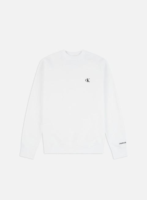 Outlet e Saldi Felpe Girocollo Calvin Klein Jeans CK Essential Regolar Crewneck