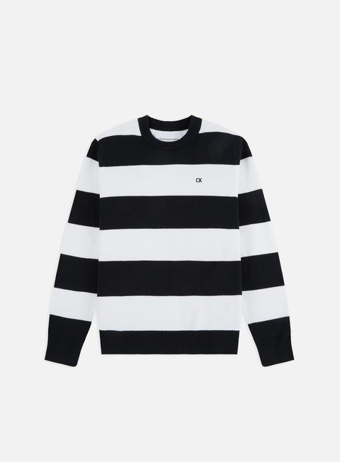 Maglioni e Pile Calvin Klein Jeans CK Stripes Cotton Sweater