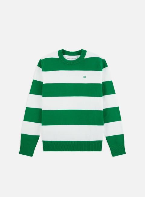 Outlet e Saldi Maglioni e Pile Calvin Klein Jeans CK Stripes Cotton Sweater