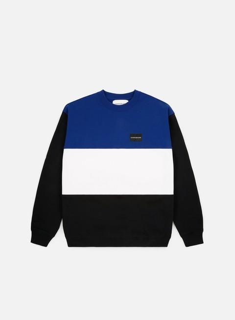Outlet e Saldi Felpe Girocollo Calvin Klein Jeans Color Block Institutional Crewneck