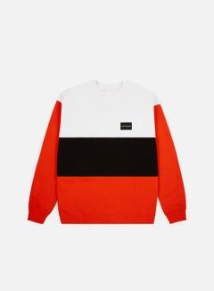 Calvin Klein Jeans - Color Block Institutional Crewneck, Pumpkin Red