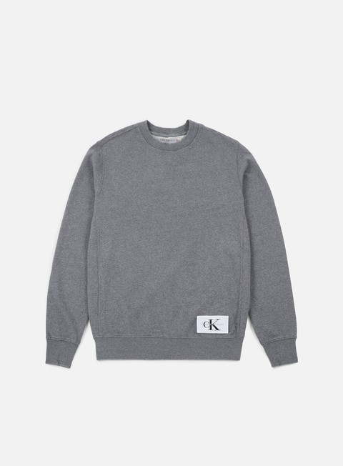 felpe calvin klein jeans homeros 1 crewneck mid grey heather