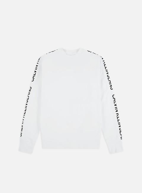 Outlet e Saldi Felpe Girocollo Calvin Klein Jeans Instit Side Stripe Crewneck