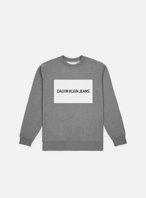 Sale Outlet Crewneck Sweatshirts Calvin Klein Jeans Institutional Box Logo Crewneck