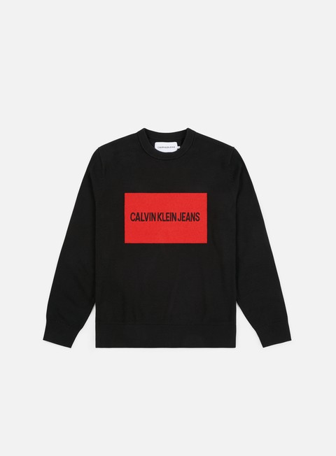 Outlet e Saldi Maglioni e Pile Calvin Klein Jeans Institutional Box Sweater