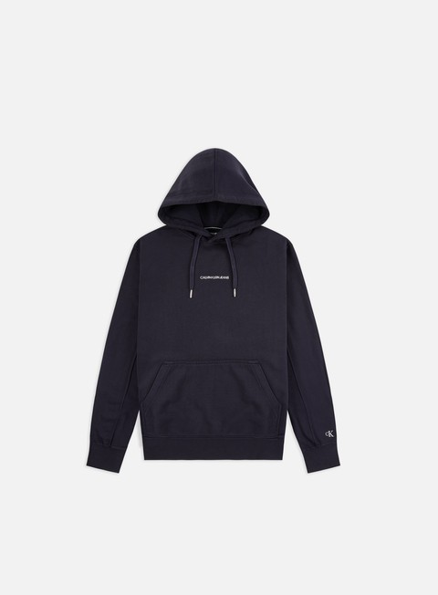 Hooded Sweatshirts Calvin Klein Jeans Institutional Chest Logo Hoodie