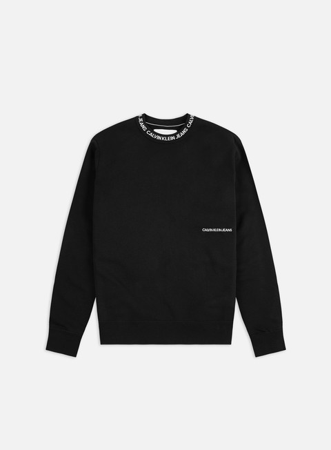 Sale Outlet Logo Sweatshirts Calvin Klein Jeans Institutional Collar Crewneck