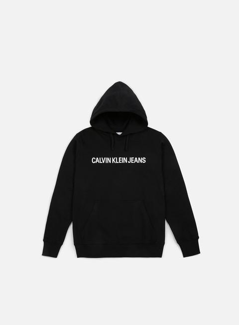 felpe calvin klein jeans institutional hoodie ck black