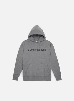 Calvin Klein Jeans - Institutional Hoodie, Grey Heather