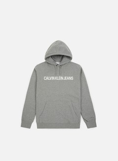Calvin Klein Jeans - Institutional Hoodie, Grey Heather/Bright White