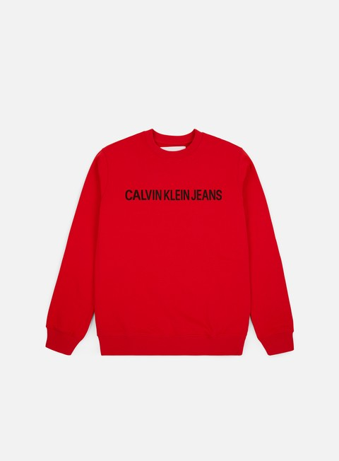 Sale Outlet Crewneck Sweatshirts Calvin Klein Jeans Institutional Logo Crewneck