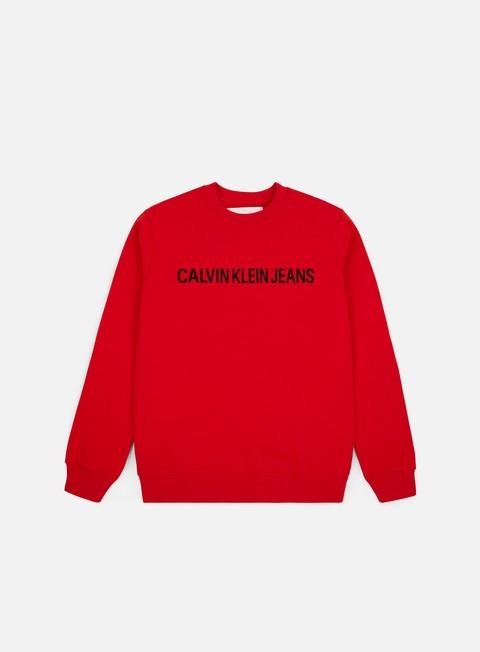 Outlet e Saldi Felpe Girocollo Calvin Klein Jeans Institutional Logo Crewneck