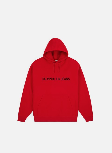 Sweaters and Fleeces Calvin Klein Jeans Institutional Logo Fleece Hoodie