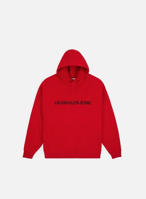 Outlet e Saldi Maglioni e Pile Calvin Klein Jeans Institutional Logo Fleece Hoodie