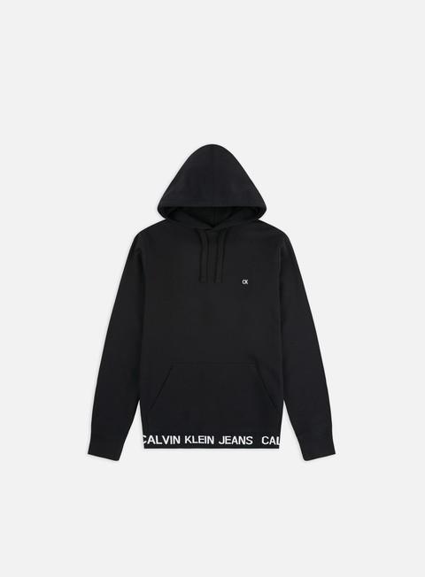 Hooded Sweatshirts Calvin Klein Jeans Institutional Logo Waistband Hoodie