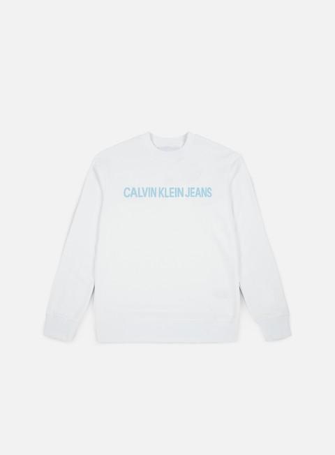 Outlet e Saldi Felpe Girocollo Calvin Klein Jeans Institutionl Logo Crewneck